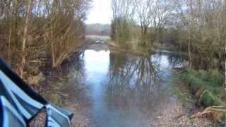 preview picture of video 'Fording the Nine Mile River on the Old Marlborough Coach Road near Bulford in Wiltshire'