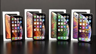 Apple iPhone Xs vs Apple iPhone Xs Max: Unboxing & Review (All Colors)