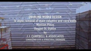Enabling Works - Miesian Plaza - Baggot St Dublin