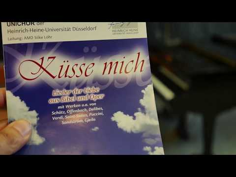 """HHU - Unichor Generalprobe Programm 2018 """"Küsse mich"""""""