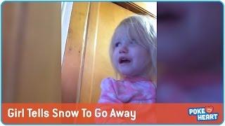 Girl Tells Off the Snow