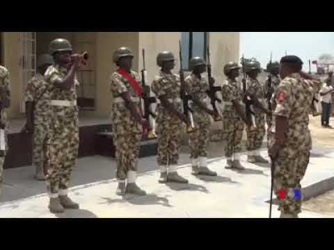 Celebrating Sallah with our gallant troops-Nigerian Army Soldiers