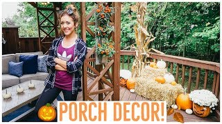 CLEAN + DECORATE WITH ME ✨ NEW FALL PORCH DECOR 2018 🎃🍂  | DECORATION INSPIRATION