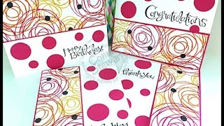 Simply Simple FLASH CARD - Polka Dotted SUPER Flash Cards By Connie Stewart
