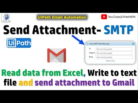 Send Email Attachment|Email Automation|UiPath RPA Tutorial - Thủ