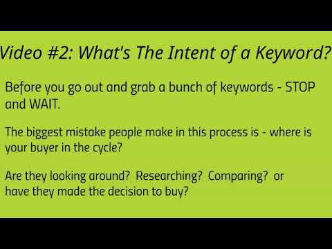 WP SEO Part 2 What's The Intent Of A Keyword?