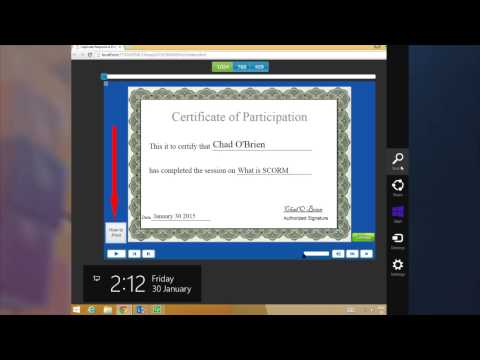 How to Print Certificate - YouTube