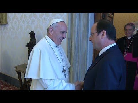 Audience du Pape François au Président de la République française