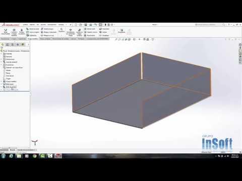 Curso solidworks como hacer Chapa metalica en diseño 3d