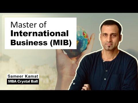 Master of International Business (MIB)