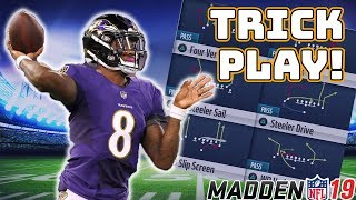 MADDEN 19 TRICK PLAY (RAVENS PLAYBOOK)