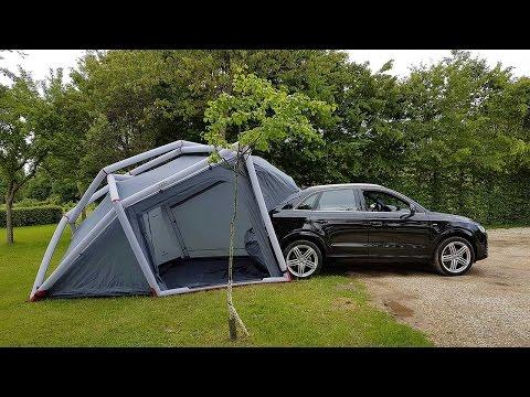 Das Audi Campingzelt mit Anbindung an einen Q3  - Begleitvideo zum Testbericht.