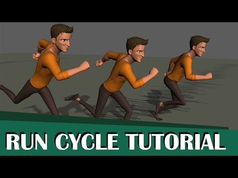 full run cycle tutorial using maya by alessandro camporota