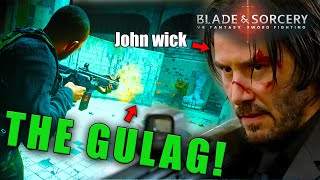 John wick has another chance at life when he fights in the GULAG in VR - Epic stuff
