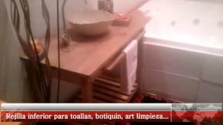 Vanitory artesanal de madera