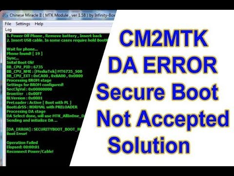 cm2 mtk secure boot error fix - смотреть онлайн на Hah Life