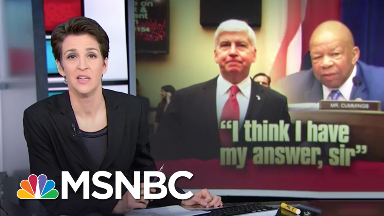 Michigan Gov. Rick Snyder Called Out In Congressional Hearing   Rachel Maddow   MSNBC thumbnail