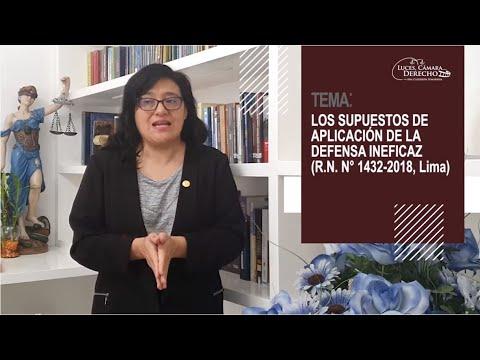 LOS SUPUESTOS DE APLICACIÓN DE LA DEFENSA INEFICAZ - LCD 185