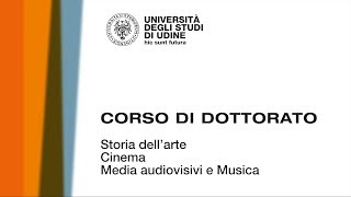Video presentazione del corso di Storia dell'arte, cinema, media audiovisivi e musica