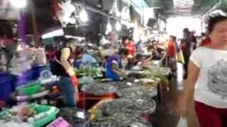 preview picture of video 'Samut Prakan Market, Fresh Seafood, and Thai Food, Samut Prakan, Thailand.'