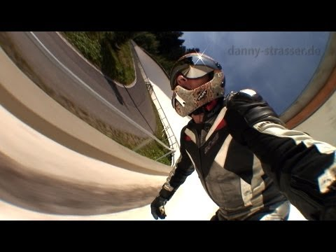 Skateboarding Down a Bobsled Track