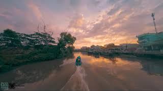 Dawn on the river homeland - Quad FPV