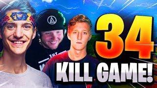34 Kill Squad with Ninja, Timthetatman, and Tfue!