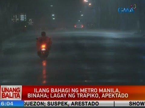 [GMA]  UB: Ilang bahagi ng Metro Manila, binaha; lagay ng trapiko, apektado
