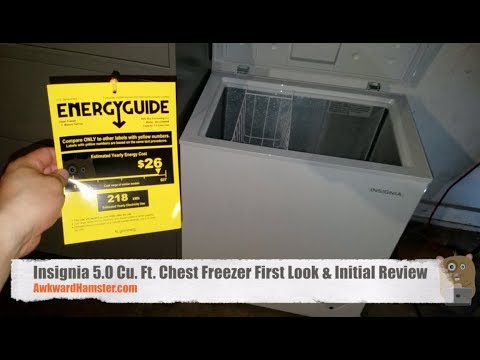 Insignia Chest Freezer First Look & Initial Review