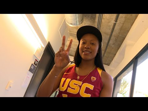 2017 Pac-12 Women's Basketball Media Days: Behind the scenes with the Trojans