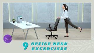 9 OFFICE DESK EXCERCISES ✨ GET FIT #46
