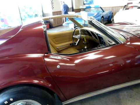 1970 Marlboro Maroon LT1 Corvette Stingray T Top 4spd Video
