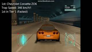 NFS Undercover - Acceleration Test of All Fully Upgraded Purchasable Cars