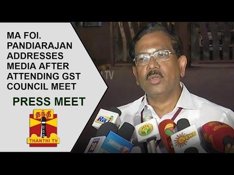 pandiarajan press meet the