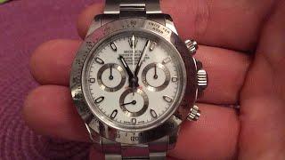 Rolex daytona white inox rare!!20.000$