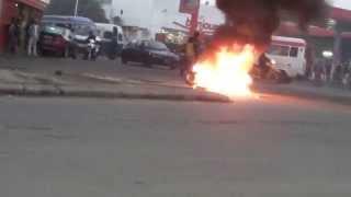 preview picture of video 'Moto en feu'
