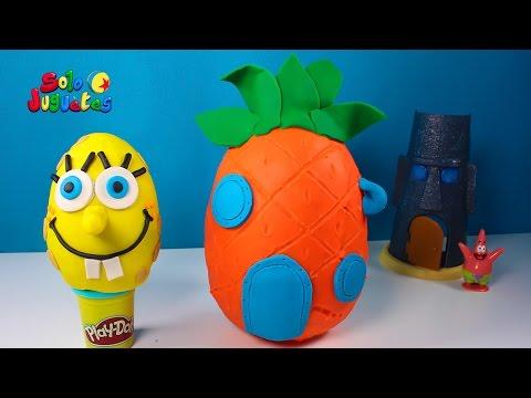 Huevos Sorpresa de BOB ESPONJA y su Piña   Sorpresas