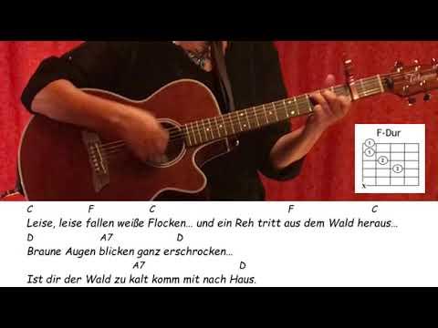 Weißer Winterwald / Gitarre/Tutorial/Cover/Akkorde/Lyrics/easy