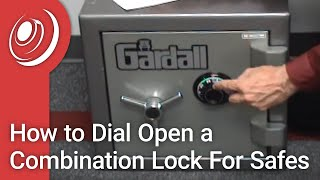 How to Dial Open a Combination Lock For Safes