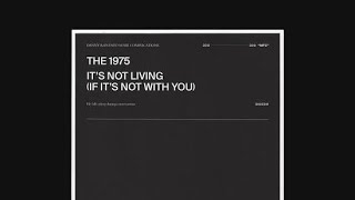 The 1975- It's Not Living(If It's Not With You)Lyrics
