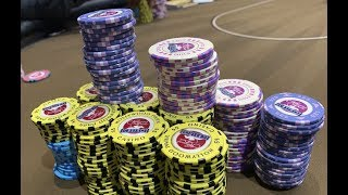 ENORMOUS 5/10/20 NL!!! Stacking $100 CHIPS in Hollywood!! Poker Vlog Ep 89