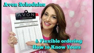 Avon Understanding Selling Schedules