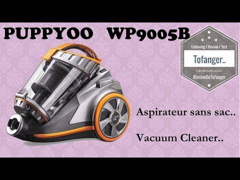 Puppyoo WP9005B : aspirateur traineau sans sac