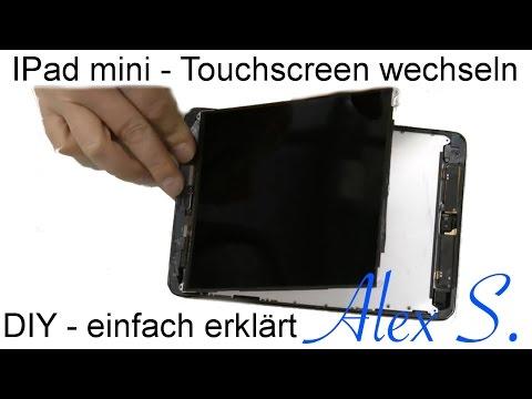 IPad mini Touch screen, Glas wechseln, reparieren, umbauen, tauschen Deutsch