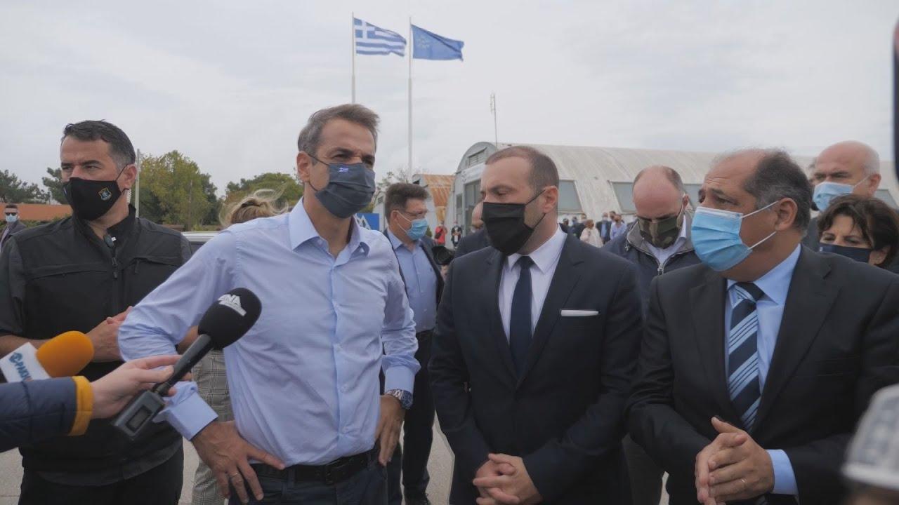 Στο λιμάνι της Αλεξανδρούπολης ο πρωθυπουργός Κυριάκος Μητσοτάκης