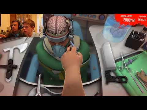 Surgeon Simulator With a Real Brain Surgeon