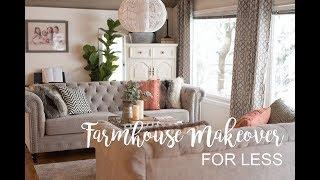 Farmhouse Living Room Makeover On A Budget