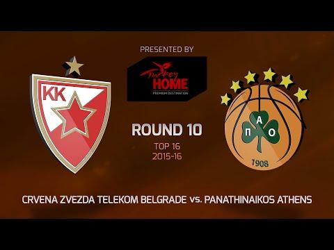 Highlights: Top 16, Round 10, Crvena Zvezda 69-67 Panathinaikos Athens