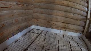 Плавающая стяжка на деревянном полу // Теплый пол в бане // Жизнь в деревне