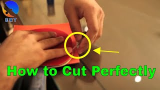 How to Cut Table Tennis Rubber Perfectly